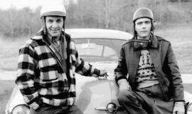 Lloyd Moore and Bill Rexford, NASCAR drivers in 1950.