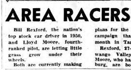 Area Racers To Compete In Florida Events. January 23, 1951.