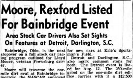Moore, Rexford Listed For Bainbridge Event. July 3, 1951.