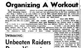 Organizing A Workout. January 28, 1972.