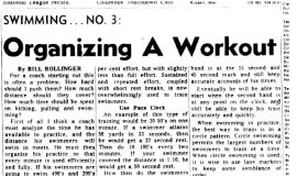 Organizing A Workout. January 4, 1972.