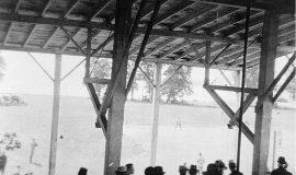 Celoron ballfield grandstand.
