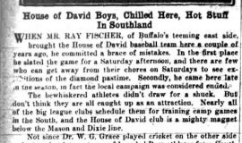 House of David Boys, Chilled Here, Hot Stuff In Southland. January 7, 1931.