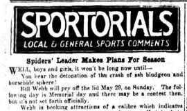 Spiders' Leader Makes Plans For Season. April 19, 1932.