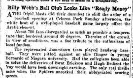 """Billy Webb's Ball Club Look Like """"Ready Money"""". May 26, 1930."""