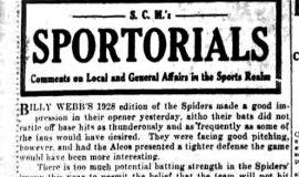 Sportorials. May 28, 1928.