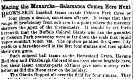 Macing the Monarchs - Salamanca Comes Here Next. May 31, 1932.