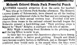Mohawk Colored Giants Pack Powerful Punch. July 24, 1930.