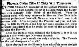 Phoenix Claim Title If They Win Tomorrow. July 3, 1930.