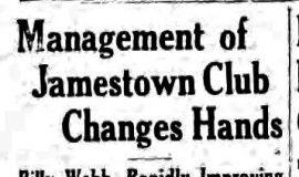 Management of Jamestown Club Changes Hands. August 14, 1935.