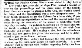 When the Florida Cuban Giants... August 15, 1928.