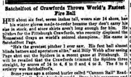 Satchelfoot of Crawford Throws World's Fastest Fire Ball. August 5, 1932.