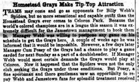 Homestead Grays Make Tip-Top Attraction. September 6, 1929.