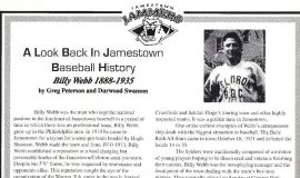 A Look Back In Jamestown Baseball History. 1999.