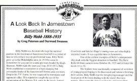 A Look Back In Jamestown Baseball History. Jamestown Jammers program book, 1999.
