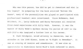 William M. Webb, The Man and His Legacy, by Greg Peterson. Page 2.