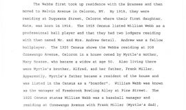 William M. Webb, The Man and His Legacy, by Greg Peterson. Page 9.