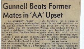 Gunnell Beats Former Mates in 'AA' Upset.