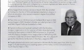 Bob Brown's biography in SUNY Cortland C-Club Hall of Fame program booklet, 2018.