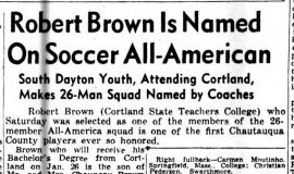 Robert Brown Is Named On Soccer All-American. January 10, 1949.