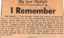 The Sport Highlight I Remember. April 1, 1960.