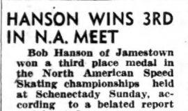 Hanson Wins 3rd In N.A. Meet. P-J-1-30-46