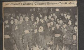 Jamestown's Skating Champs Receive Certificates.