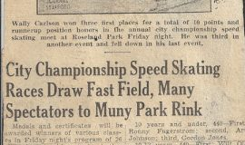 City Championship Speed Skating Races Draw Fast Field