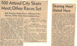 500 Attend City Skate Meet. Skating Meet Slated Here.