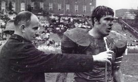 Bob Palcic at Cardinal Midszenty High School, 1966.