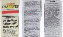On Buffalo, Palcic still talks proud. October 5, 1997.