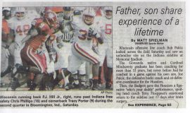 Father, son share experience of a lifetime. 2006.