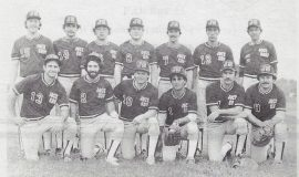 Jock Shop softball team. 1981.