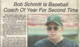 Bob Schmitt Is Baseball Coach Of Year For Second Time.  June 18, 1995.