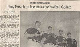 Tiny Frewsburg becomes state baseball Goliath. 1997.