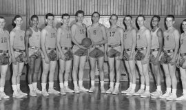 Jamestown High School Basketball, 1954 - 1955.
