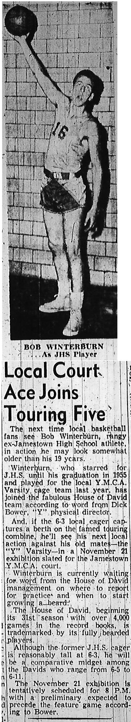 Bob Winterburn - Chautauqua Sports Hall of Fame