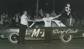 Punk VanGuilder and Bob Schnars at Stateline Speedway, 1965.