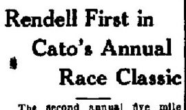 Rendell First in Cato's Annual Race Classic. June 14, 1937.