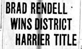 Brad Rendell Wins District Harrier Title. November 21 1937.