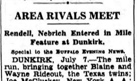 Area Rivals Meet. July 7, 1939.