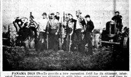 Panama Digs In. November 8, 1949.