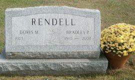 Brad Rendell's grave marker.