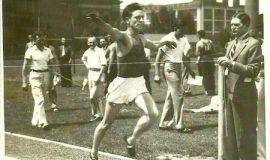 Brad Rendell, 1936, at the Regional Olympic Trials in Buffalo, NY.