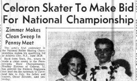 Celoron Skater To Make Bid For National Championship. May 13, 1958.