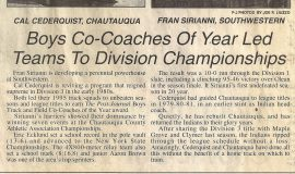 Boys Co-Coaches Of Year Led Tems To Division Championships. 1995.
