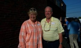 Bill Brosius, son of inductee Harry Brosius, and Diane.