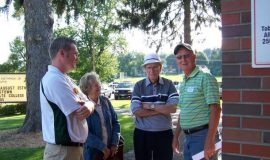 Matt Drayer, Jammers GM with Shirley and Jim Matthews and Randy Anderson.