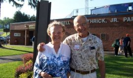 Cynthia Gelman, daughter of inductee Dr. Harold Blaisdell, and Eph.