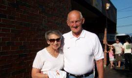 Inductee Ken Martin and Gloria.